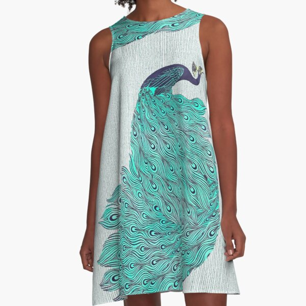A very, very peacock A-Line Dress