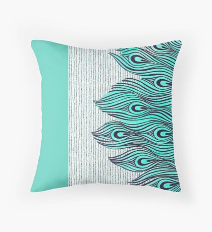A very, very peacock Throw Pillow