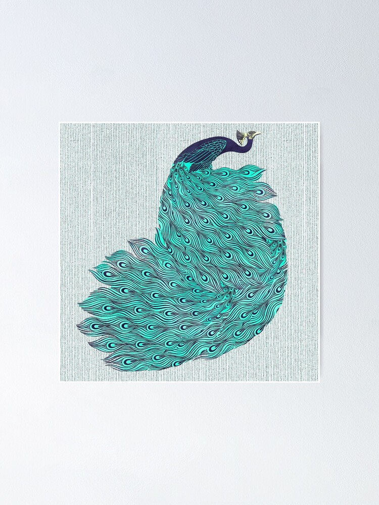 Alternate view of A very, very peacock Poster