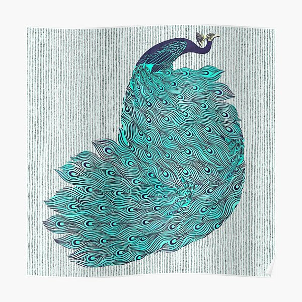 A very, very peacock Poster