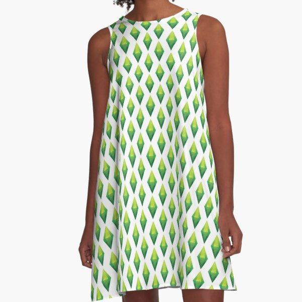 Plumbob A-Line Dress