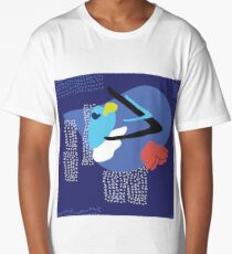Seamless abstract pattern Modern cool design Long T-Shirt