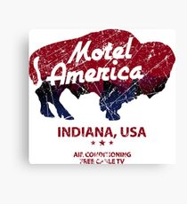 Motel America Distressed - american gods Canvas Print
