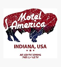 Motel America Distressed - american gods Photographic Print
