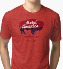 Motel America Distressed - american gods Tri-blend T-Shirt