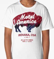 Motel America Distressed - american gods Long T-Shirt