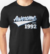 Awesome Since 1992 Birthday Gift Idea Unisex T-Shirt