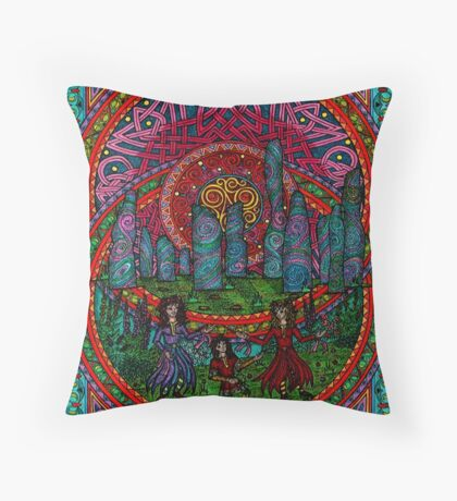 Beltain sunrise on Lewis Throw Pillow