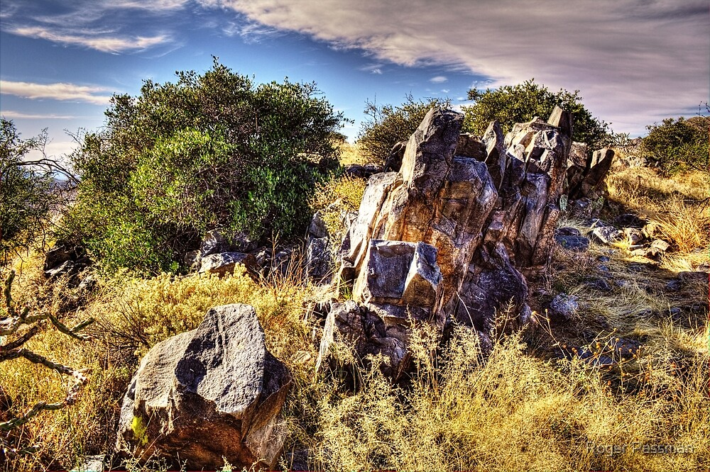Rocky Outcrop at Sears-Kay Ruins by Roger Passman