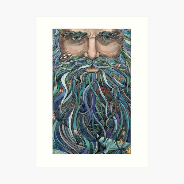 Old man Ocean Art Print