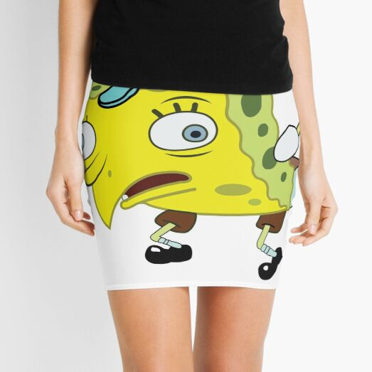 High Quality Spongebob Meme Mini Skirt
