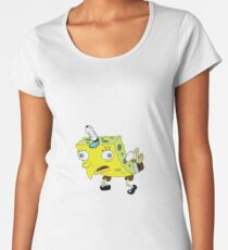 High Quality Spongebob Meme Women's Premium T-Shirt
