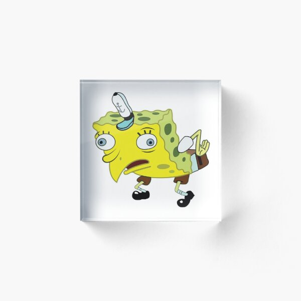 High Quality Spongebob Meme Acrylic Block