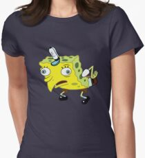 High Quality Spongebob Meme Women's Fitted T-Shirt