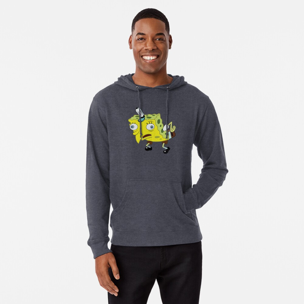 High Quality Spongebob Meme Lightweight Hoodie