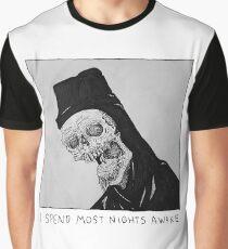 I Spend Most Nights Awake Graphic T-Shirt