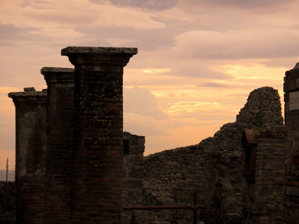 Sunset on the Ruins by UrsulaRodgers