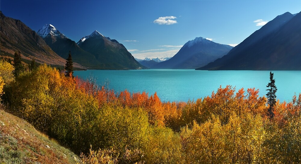 Autumn Tutshi Lake by John Poon