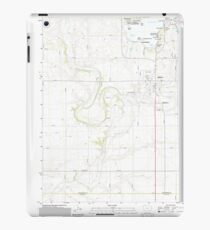USGS TOPO Maps Iowa IA Milford 20130417 TM iPad Case/Skin