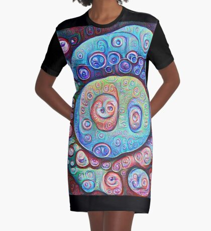 #DeepDream Ice 5x5K v1450338773 Graphic T-Shirt Dress