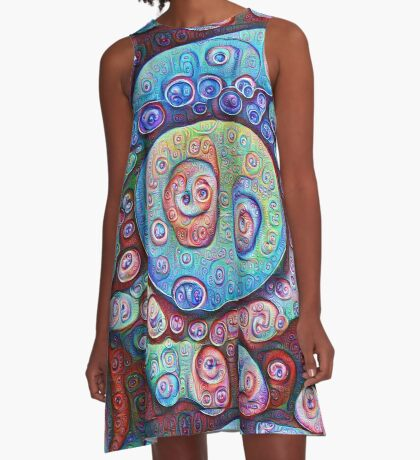 #DeepDream Ice 5x5K v1450338773 A-Line Dress