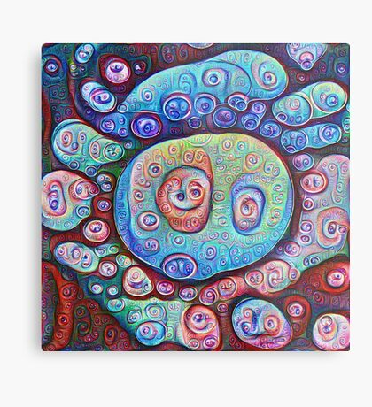 #DeepDream Ice 5x5K v1450338773 Metal Print