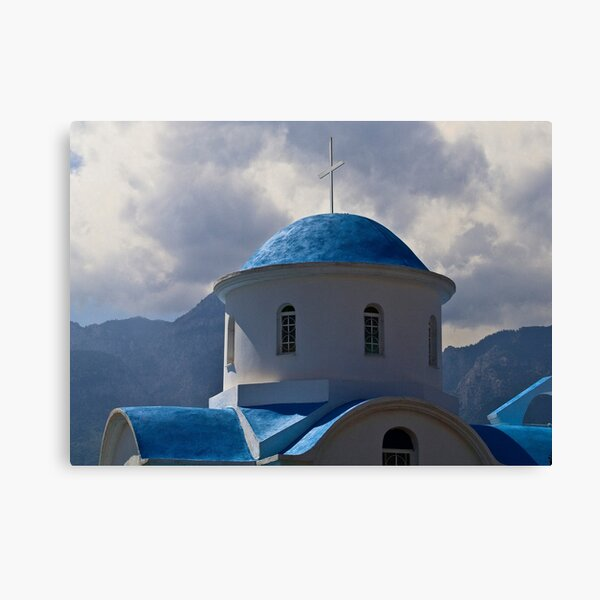 GREEK ROADSIDE CHAPEL..! Canvas Print