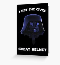 Spaceballs - I Bet She Gives Great Helmet Greeting Card