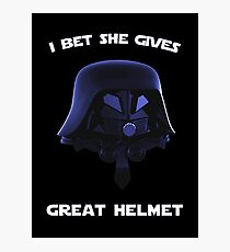 Spaceballs - I Bet She Gives Great Helmet Photographic Print
