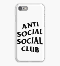 ANTI SOCIAL iPhone Case/Skin