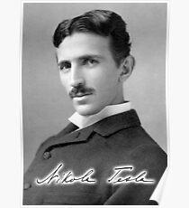 TESLA, Nikola Tesla, Electric, Electricity, AC, Poster