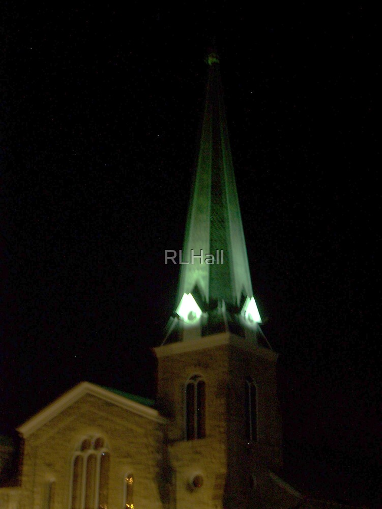 Steeple in the Night by RLHall