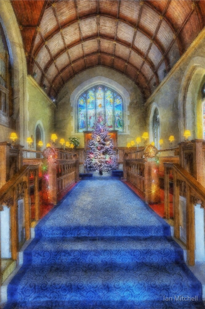 Church at Christmas by Ian Mitchell
