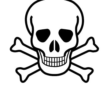 DANGER, Poison warning, SKULL, Skull & Crossbones, Hazard, Pirate, Buccaneer, symbol, BLACK by TOMSREDBUBBLE