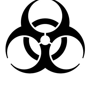BIO HAZARD, symbol, Biological hazard, Danger, WARNING, in black by TOMSREDBUBBLE