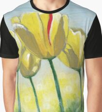 Yellow Sunlit Tulips Dancing in the Wind Graphic T-Shirt
