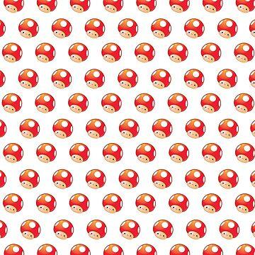 Power Mushroom Pattern by halegrafx