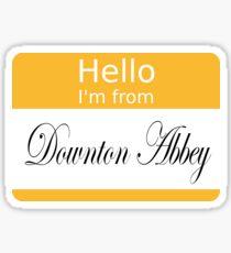 Hello badge (DA) Sticker