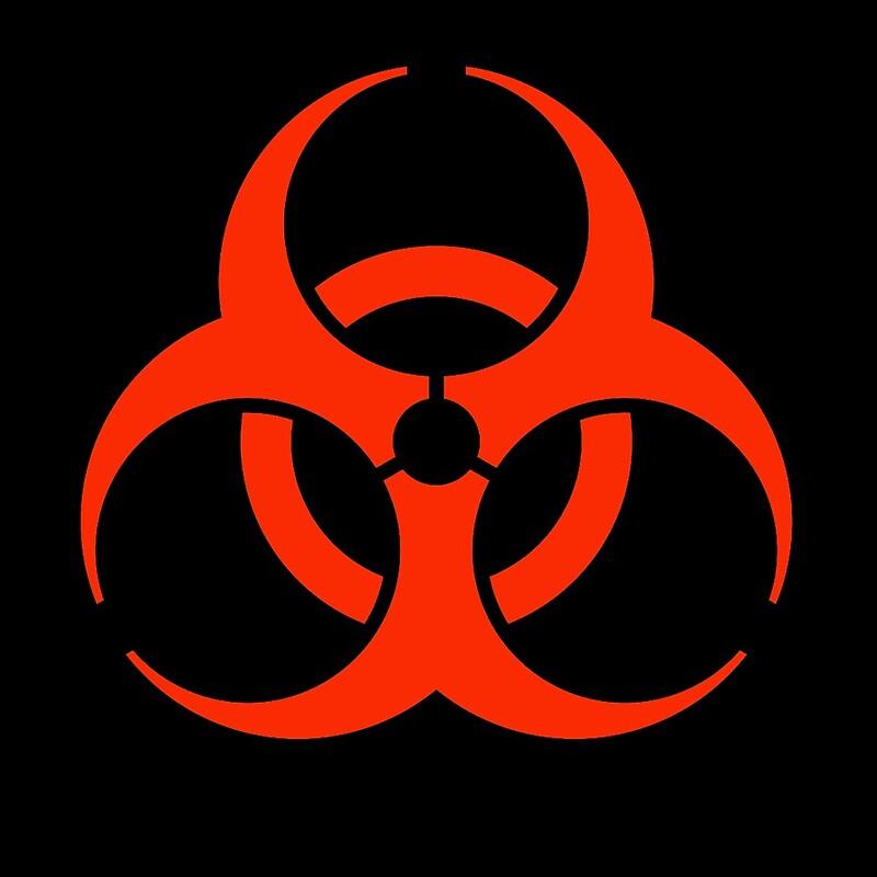 black and red biohazard symbol wwwpixsharkcom images
