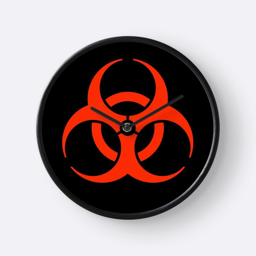 Bio hazard warning biohazard symbol biological hazard red on bio hazard warning biohazard symbol biological hazard red on black by tom biocorpaavc Images