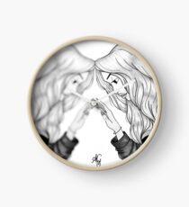Mirror mirror - grey Clock