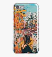 Young Woman / Colorful Wall Graffiti iPhone Case/Skin