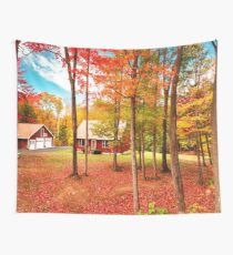 country house in vermont Wall Tapestry