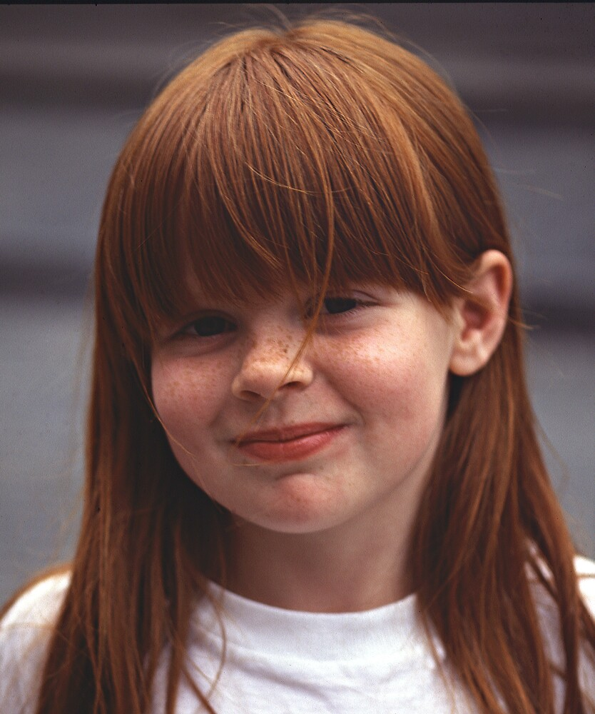 Girl With Auburn Hair and Freckles by kitlew