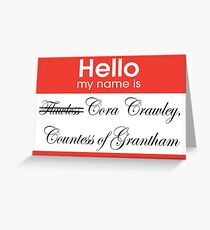 Hello badge (Cora) Greeting Card