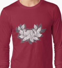 grey rose Long Sleeve T-Shirt