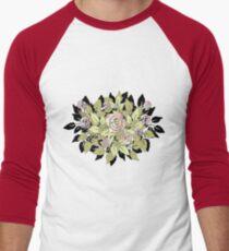 pink rose Men's Baseball ¾ T-Shirt