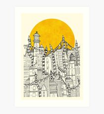 Big Sun Small City Art Print