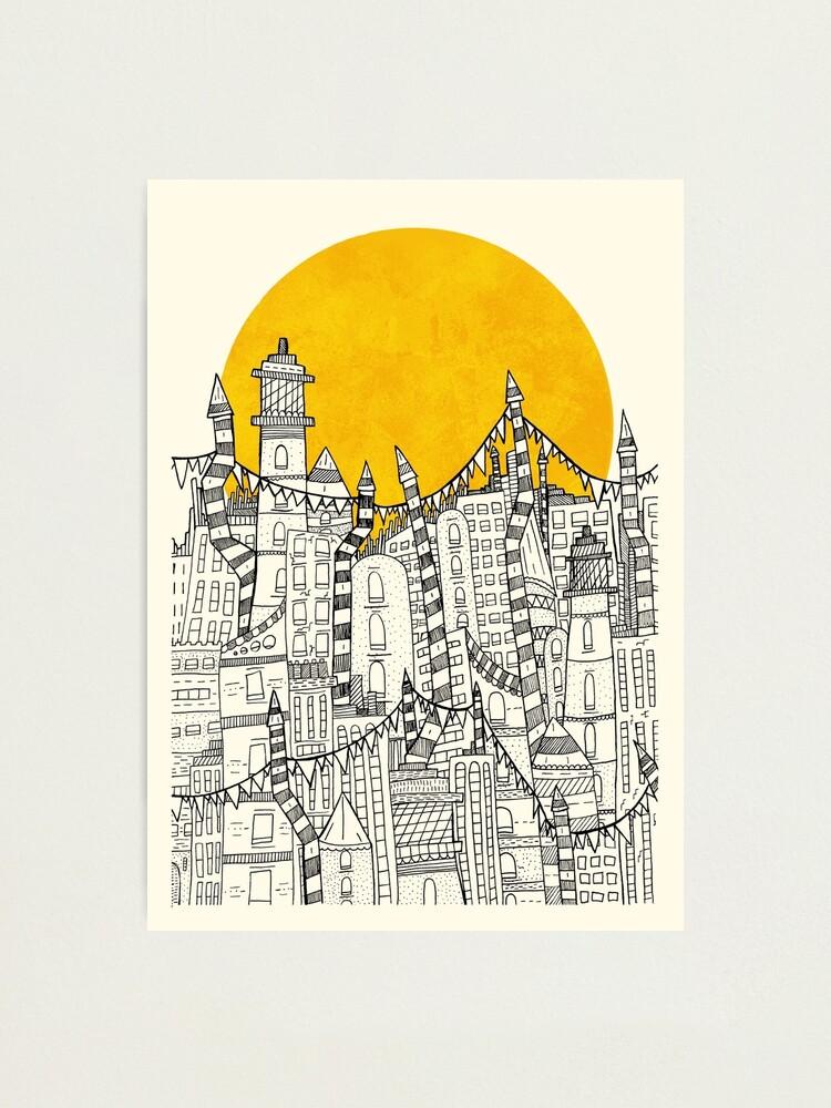 Alternate view of Big Sun Small City Photographic Print