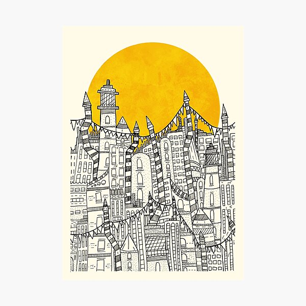 Big Sun Small City Photographic Print